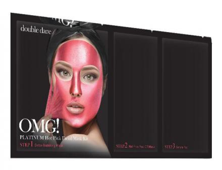 Трехкомпонентный комплекс масок СИЯНИЕ И РОВНЫЙ ТОН Double Dare OMG! Platinum Hot Pink Facial Mask: фото