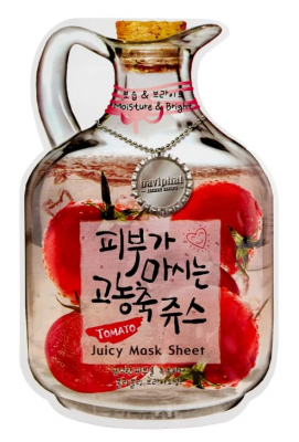Маска тканевая с томатом Baviphat Tomato Juicy Mask Sheet Moisture & Bright 23г: фото