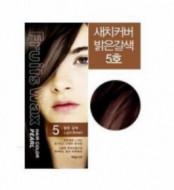 Краска для волос на фруктовой основе Welcos Fruits Wax Pearl Hair Color #05 60мл*60г: фото