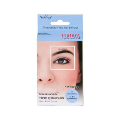 Краска-хна в капсулах для бровей Godefroy Eyebrow Tint Natural Black набор 15 капсул черная: фото