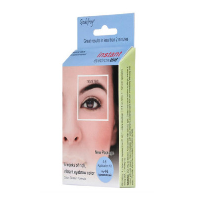Краска-хна в капсулах для бровей Godefroy Eyebrow Tint Natural Black набор 4 капсулы черная: фото