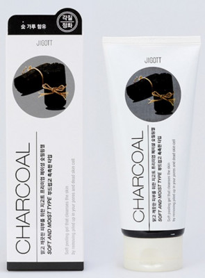 Пилинг-гель с древесным углем JIGOTT Premium Facial Charcoal Peeling Gel: фото