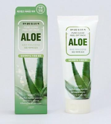 Маска-плёнка для лица на основе экстракта алоэ JIGOTT Aloe Pure Clean Peel Off Pack 180мл: фото