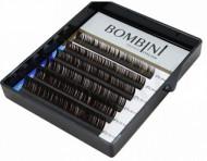Ресницы Bombini Truffle Темно-коричневые, 6 линий, изгиб D+ mini-MIX 8-13 0.10: фото