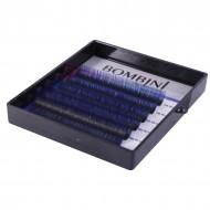 Ресницы Bombini Holi Черно-синие, 6 линий, изгиб C MIX 8-13 0.10: фото