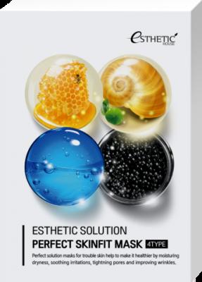 Набор Тканевых масок для лица ESTHETIC HOUSE Esthetic Solution Perfect Skinfit Mask 4 Type 25мл*4шт: фото