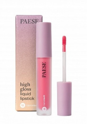 Помада жидкая PAESE High gloss liquid lipstick NANOREVIT 55 Fresh Pink: фото