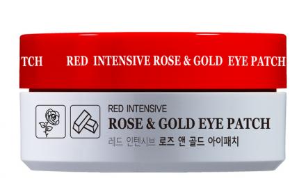 Гидрогелевые патчи для глаз с экстрактом розы и коллоидным золотом HANIxHANI Red Intensive Rose & Gold Eye Patch 1,4г*60шт: фото