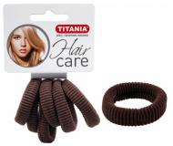 Резинки для волос 3,5см Titania коричневые 6шт: фото