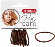 Резинки для волос Titania 3см коричневые 12шт: фото
